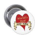World's Best Head Nurse Button