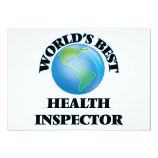 World's Best Health Inspector Card