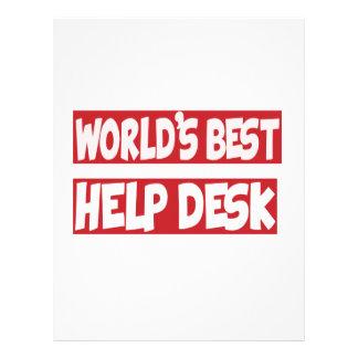 World's Best Help Desk. Letterhead Template