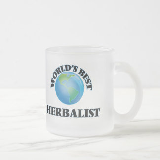 World's Best Herbalist 10 Oz Frosted Glass Coffee Mug