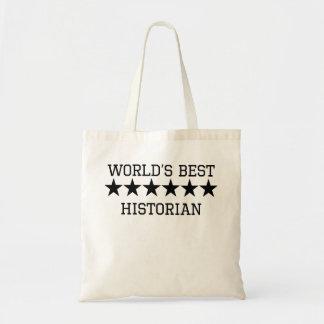 World's Best Historian Canvas Bags