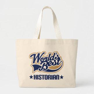 Worlds Best Historian Canvas Bags