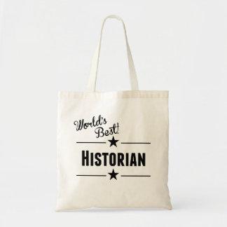 World's Best Historian Budget Tote Bag