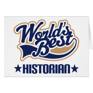 Worlds Best Historian Card