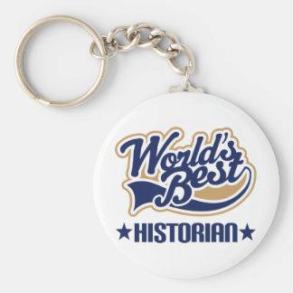 Worlds Best Historian Keychain