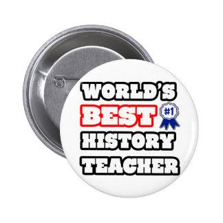 World's Best History Teacher Buttons