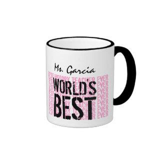 World's Best History Teacher Ever Gift V16 Ringer Coffee Mug