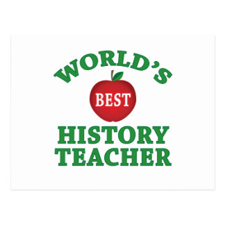 World's Best History Teacher Postcard