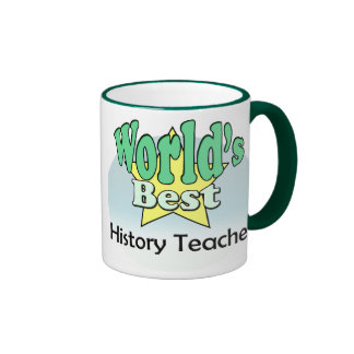 World's best History Teacher Ringer Coffee Mug