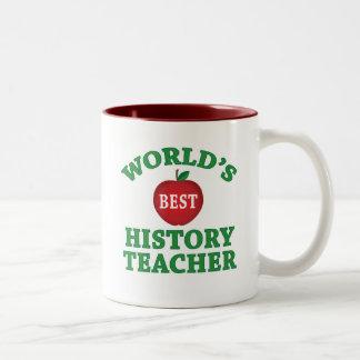 World's Best History Teacher Two-Tone Coffee Mug