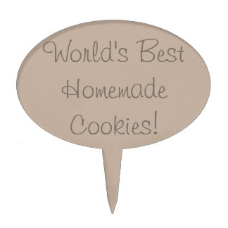 World's Best Homemade Cookies Cake Topper