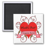 World's Best Hospice Nurse 2 Inch Square Magnet