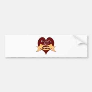 World's Best Hospice Nurse Bumper Sticker