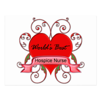 World's Best Hospice Nurse Postcard
