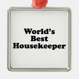 World's Best Housekeeper Metal Ornament