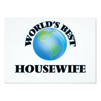 """World's Best Housewife 5"""" X 7"""" Invitation Card"""