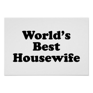 world's best housewife print