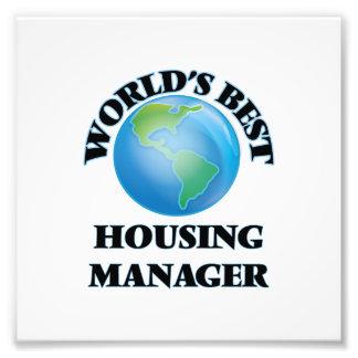World's Best Housing Manager Photo Art