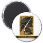 World's Best Hunter 2 Inch Round Magnet