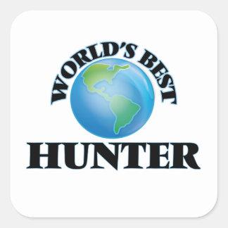 World's Best Hunter Square Sticker