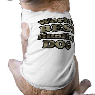 Worlds Best Hunting Dog Khaki Camo T-Shirt Dog T Shirt