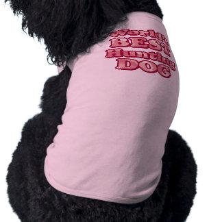 Worlds Best Hunting Dog Pink Camo T-Shirt Dog Tee