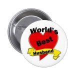 World's Best Husband 2 Inch Round Button