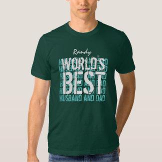 World's Best Husband and Dad Custom Name V08 Tee Shirt