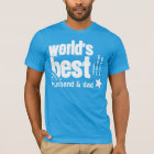 World's Best Husband and Father X03Q BLUE T-Shirt