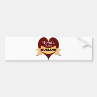 World's Best Husband Bumper Sticker