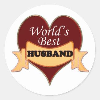 World's Best Husband Classic Round Sticker