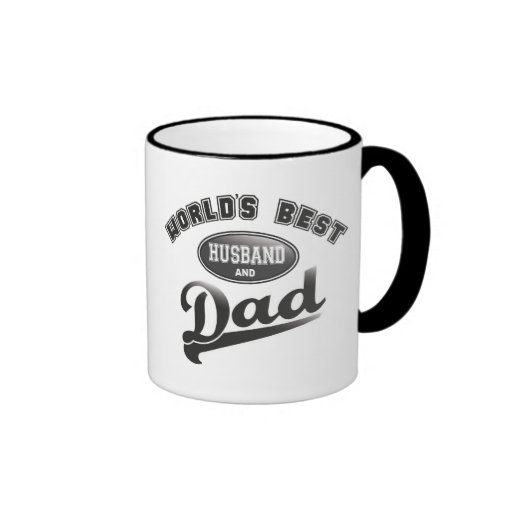 World's Best Husband & Dad Ringer Coffee Mug
