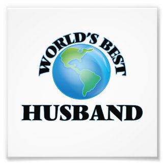 World's Best Husband Photo Print