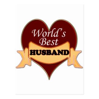 World's Best Husband Postcard