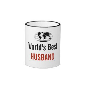World's best Husband Ringer Coffee Mug