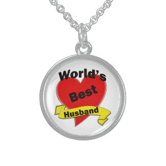 World's Best Husband Sterling Silver Necklace