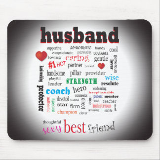 Worlds Best Husband Word Cloud Mouse Pad
