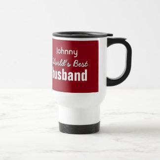 World's Best HUSBAND You Choose Background Color 1 Travel Mug