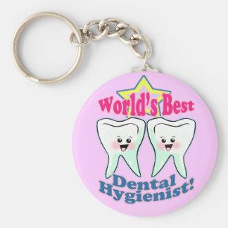Worlds Best Hygienist Key Chains