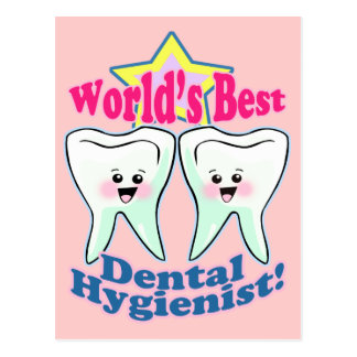Worlds Best Hygienist Postcard
