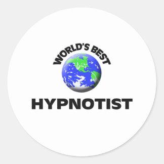 World's Best Hypnotist Round Sticker