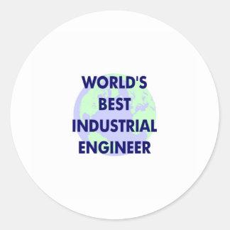 WOrld's Best Industrial Engineer Classic Round Sticker