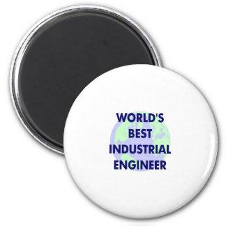 WOrld's Best Industrial Engineer 2 Inch Round Magnet