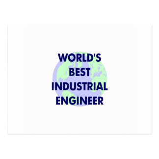 WOrld's Best Industrial Engineer Postcard