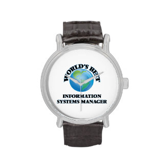 World's Best Information Systems Manager Wrist Watch
