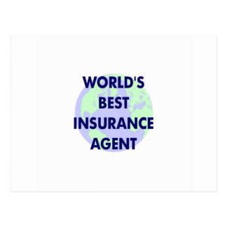 World's Best Insurance Agent Postcard