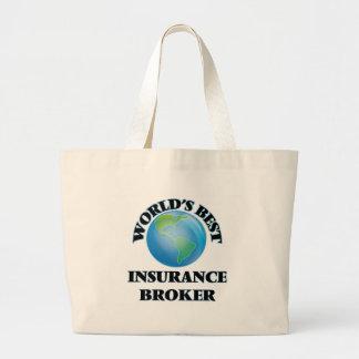 World's Best Insurance Broker Canvas Bags