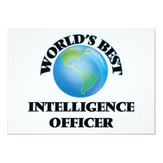 World's Best Intelligence Officer 5x7 Paper Invitation Card