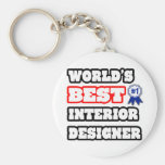 World's Best Interior Designer Keychain