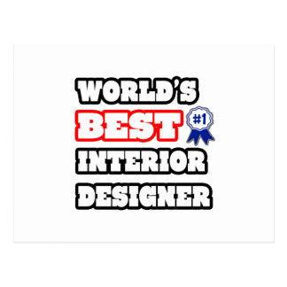 World39s Best Interior Designer Postcard